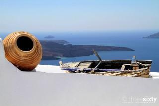 santorini island margo houses aegean sea