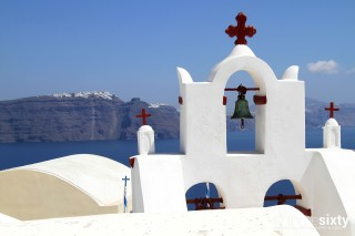 santorini island margo houses greek church